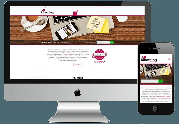 Blooming Social Media Web Design