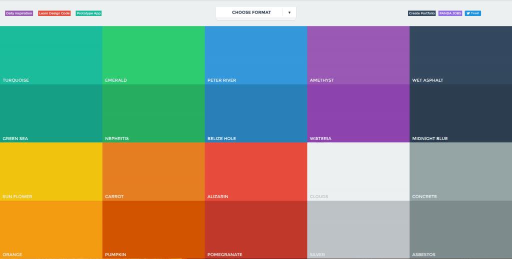 flat web design colour scheme