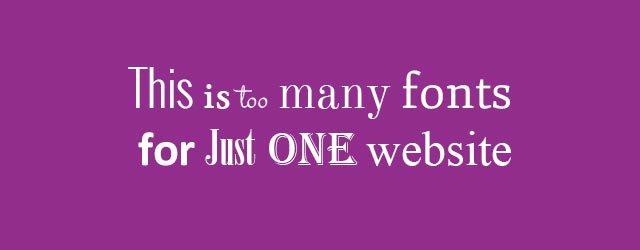 Bad Web Font Design
