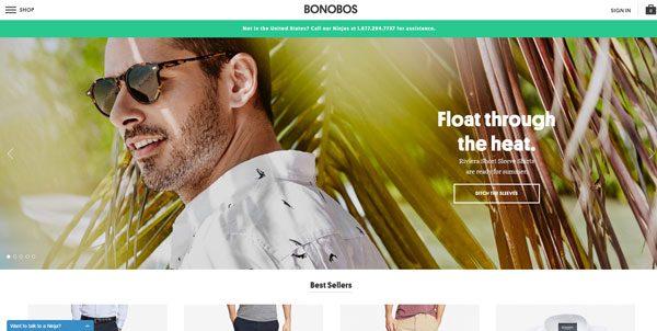 Bonobos responsive web design example