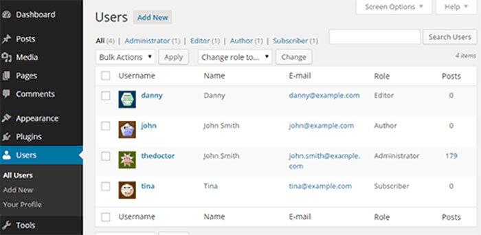 multiple wordpress users
