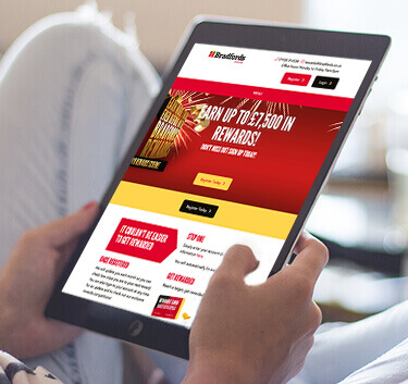 bradfords rewards website development